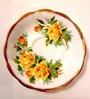 Royal Albert Saycer Tea Rose Yellow Tea Brushed Gold Gilt Trim