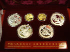 Beijing 2008 Olympics Gold Silver 6 Coin Set Series III 2/3 oz gold 4 oz silver