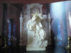 HOLY  FAMILY FIGURINE, All White heavy marble poly~ Made in Italy, 8-1/4
