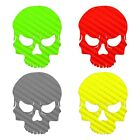 Skull Decal Carbon Fiber Skull Sticker Choose Color  Size