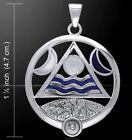 Air Fire Water Earth Elements Lunar Power Pendant Pagan Wiccan Jewelry TP3559RM