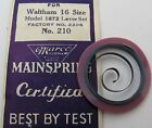 New old Waltham 16s 1872 model 2208 Mainspring 1 piece