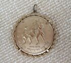Vintage Coin Pendant BiCentennial 1776-1976 Gold-tone Medallion Spirit of 76