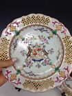 Pair of Antique French Samson Hand Painted Armorial Plates, Late 19th Century