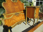 Antique French VICTORIAN style Carved Satin Wood 13 pc Bedroom set 1920s