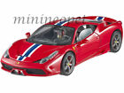 HOT WHEELS ELITE BLY31 FERRARI 458 SPECIALE 1 18 DIECAST MODEL CAR RED