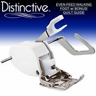 Distinctive Even Feed Walking Presser Foot + Bonus Quilt Guide w/ Free Shipping
