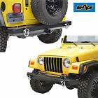 EAG Front Bumper+Rear Bumper With Hitch Receiver for 87-06 Jeep Wrangler YJ TJ
