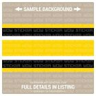 Wall Border Set Stripes Yellow 12 ft x 6 in Vinyl Decal Sticker Steelers