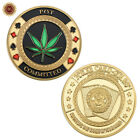 WR POT  Committed Gold Poker Card guard Coin Casino Lucky Souvenir w Capsule