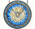 Holy Spirit Roundel Suncatcher Stained Glass Suncatcher Masterwork USA GM1013
