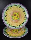 Sango Tuscan Gardens Set of 2 Salad Plates Sunflowers Sue Zipkin 3076