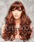 Red Mix Long Full Volume Big Bounce Curls Curly Wig WICA 33/130