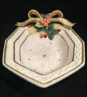 Fitz and Floyd 1996 Snowy Woods Christmas Serving Cranberry Bowl