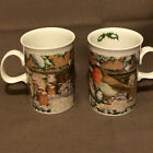Vintage 1993 Pair of Dunoon Christmas Mugs Made in Scotland
