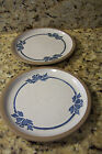 MIDWINTER BLUE BROWN STONEWARE LARGER SALAD OR LUNCHEON DESSERT PLATES SET OF 2