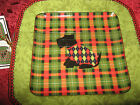 222 FIFTH CHRISTMAS SCOTTY APPETIZER PLATES - SET OF 8 - NEW