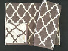 CYNTHIA ROWLEY QUATREFOIL GRAPHITE GREY TAUPE CREAM HAND TOWELS - SET OF 2 - NEW