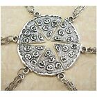 MJartoria Antique Silver Color Pizza Slice Friendship Necklace Set of 6