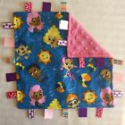 Handmade Tag Security Baby Blanket - Bubble Guppies - Pink Blue Nick Jr Minky