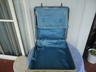 vintage art deco antler faux lizard skin suitcase shabby chic brass catches