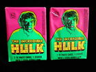 *Lot of 2 Two* 1979 TOPPS THE INCREDIBLE HULK UNOPENED WAX PACKS