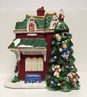Spode Ceramic Mold Christmas Tree Cookie Jar Village Collection Train Station