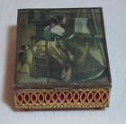 Vintage Sankyo Japan Bronze Music Trinket Jewelry Box Artist's Studio by Corot