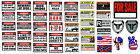 RC 1 10 Scale Warning Decal Stickers Axial Crawler Graphic Garage 19 22 RC Set