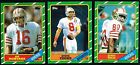 1986 TOPPS FOOTBALL 396 CARD COMPLETE FOOTBALL SET JERRY RICE ROOKIE