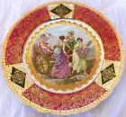 Antique Porcelain Display Plate O S Prussia Signed A Kaufmann Old Beehive Mark