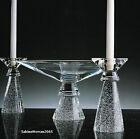 CANDLESTICK PAIR ornamental crystal