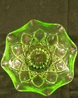 Anchor Hocking Green Glass Set of 3 Candy Dessert Bowl Dish 4 1/2