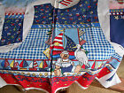 DAISY KINGDOM SAILOR BEAR Multicolor Cotton  ADULT VEST PANEL SIZES S, M