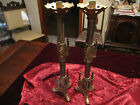 Antique Brass Gothic Candle stick Holder's  1890 - 1910