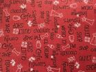 Crafts Sewing Quilts Fabric Red Rooster Around Town (4383) Red White BTY