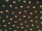 Crafts Sewing Fabric Red Rooster Mia (4378)  Black Red Flowers Floral  BTY