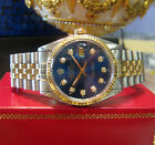 Mens ROLEX Oyster Perpetual Datejust Diamond Dial Stainless Steel