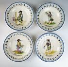 Set of 4 ITALIAN Art Pottery 4 SEASONS BOWL Wall Hanging Charger FAIENCE Italy