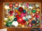 Lot of 68 Vtg Mercury Glass Tree Ornaments Poland Japan