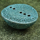 Handmade Flower Vase FAT LAVA GLAZE Signed OM or WO IKEBANA Mod Flower Brick