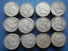 30 Face Value 1950 1963 90 Silver Franklin Half Dollars Lot of 60 US Coins
