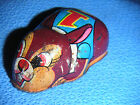 Vintage Tin Litho Metal Bunny Rabbit Animal Friction Toy Made in Japan YONE