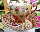 GERMANY BEEHIVE TEA CUP AND SAUCER PAINTED DEMI TEACUP GERMAN