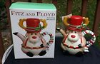 Fitz & Floyd Snack Therapy Reindeer  Deer Cocoa Pot Teapot For One & Mug 2003