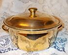 Vtg Hall Golden Glo 22 Kt Gold Covered Casserole Serving Dish #76 USA