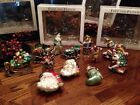 Fitz And Floyd Christmas Tree Ornaments 3 Packs Lot Of 4 2004 12 Pieces Total