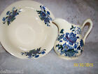 STAFFORDSHIRE  PITCHER AND BOWL-CHARLOTTE RARE BLUE FLOWERES WITH PINK --RARE