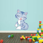Full Color Wall Vinyl Sticker Decals Cat Kitty Col70
