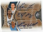 2009-10 SP GAME USED RUSSELL WESTBROOK KEVIN LOVE O.J. MAYO TRIPLE AUTO 100